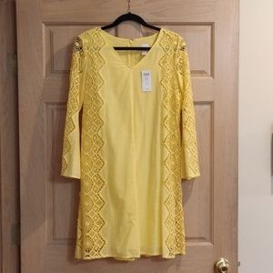 BRAND NEW Yellow Sundress with Lace Sleeves